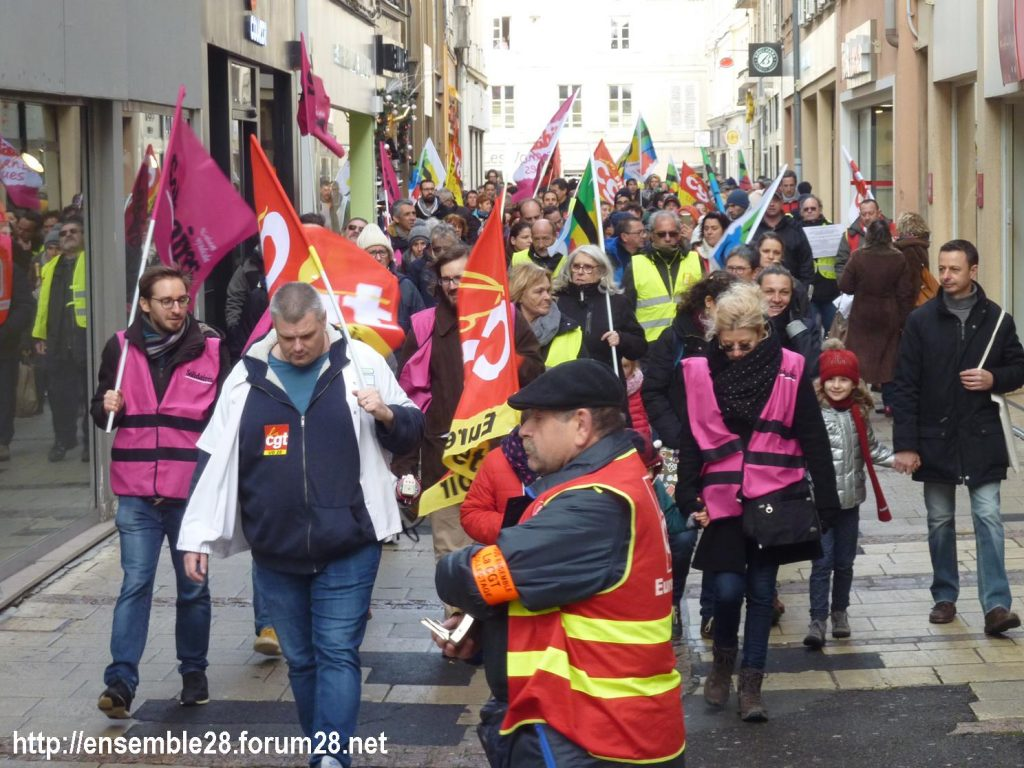 Chartres 14-12-2019 Manifestation Retraites 05