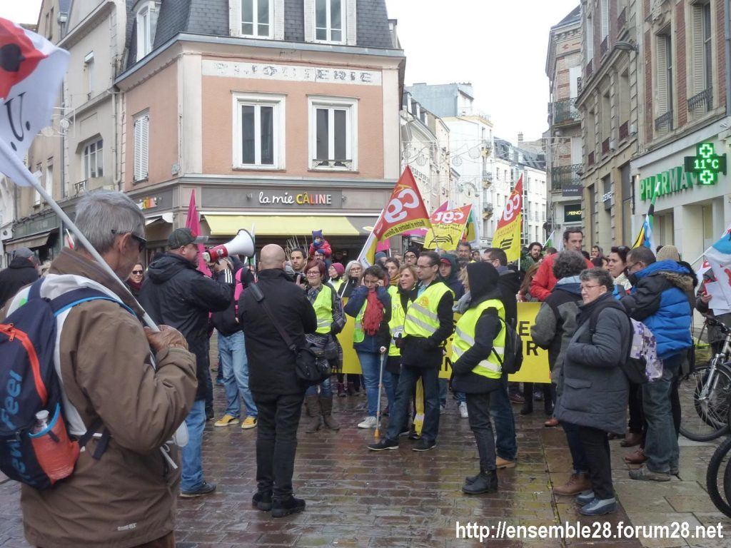 Chartres 14-12-2019 Manifestation Retraites 06