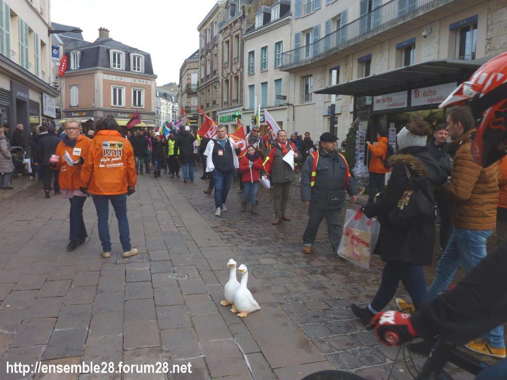 Chartres 14-12-2019 Manifestation Retraites 07