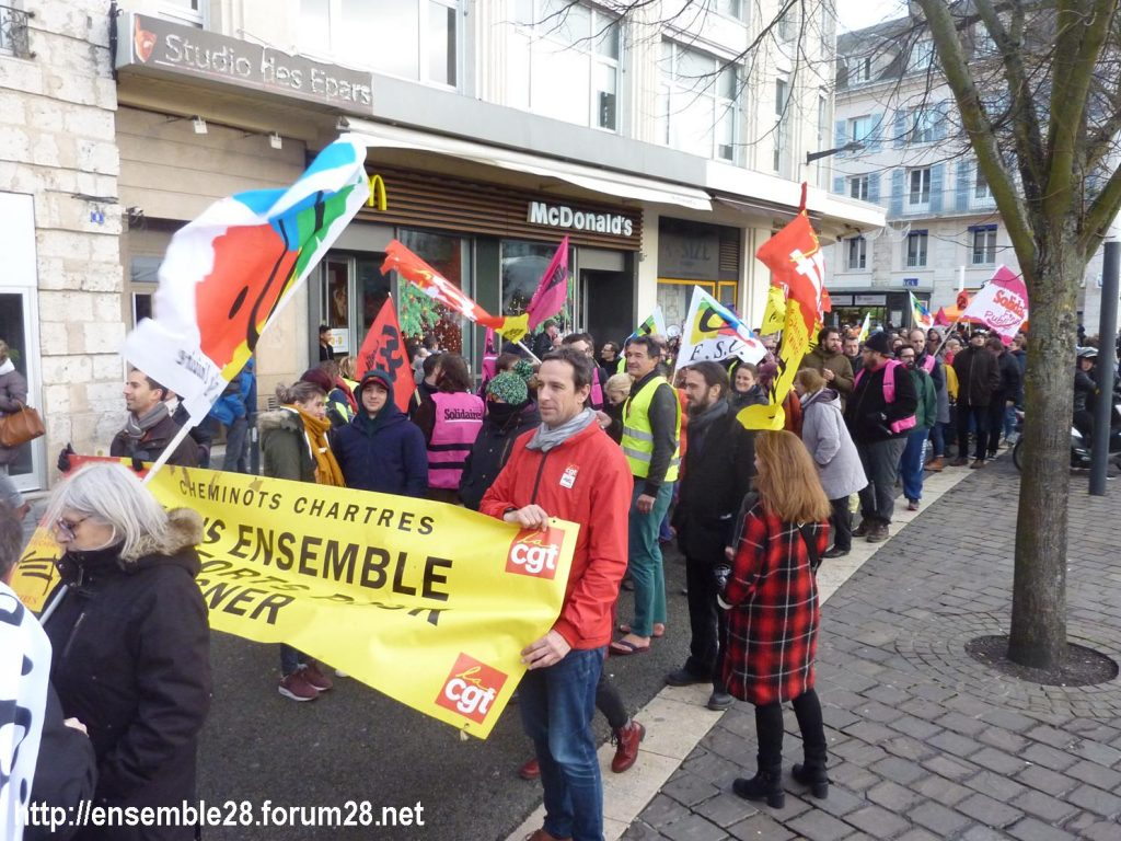 Chartres 14-12-2019 Manifestation Retraites 09