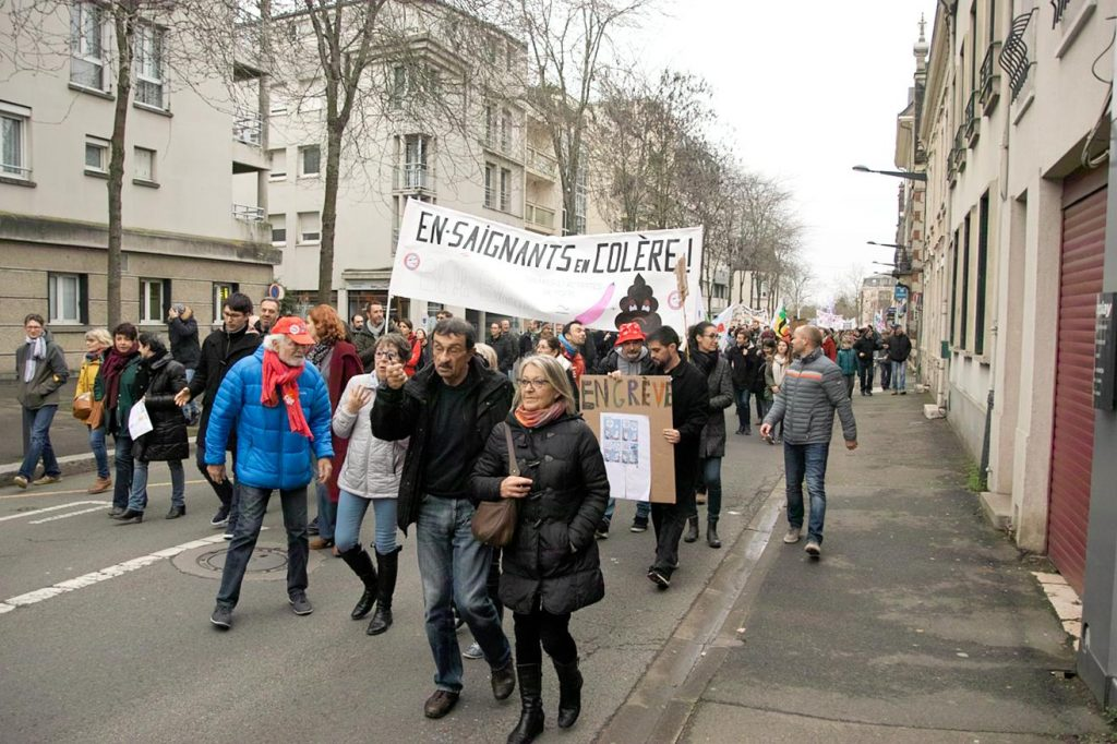 Chartres 17-12-2019 Manifestation Retraites [Photo Willy Proust] 11