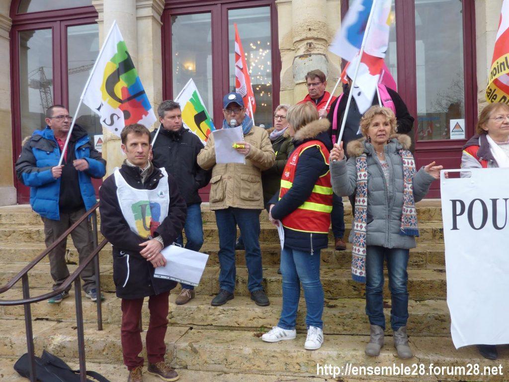 Chartres 19-12-2019 Rassemblement Retraites 03