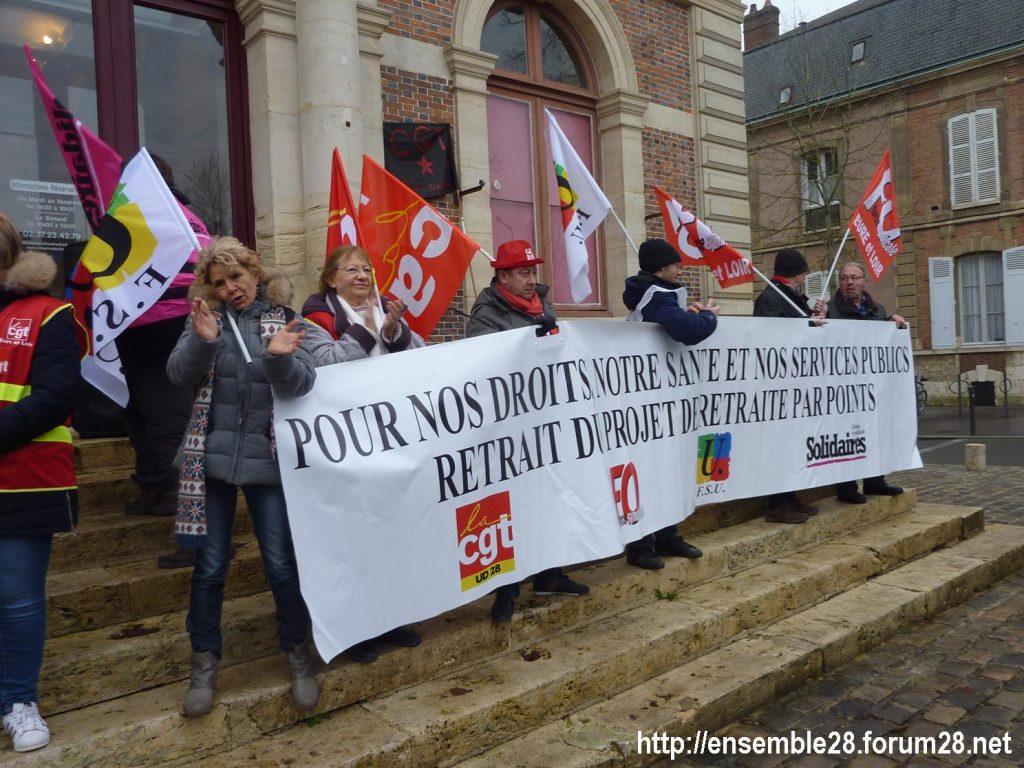 Chartres 19-12-2019 Rassemblement Retraites 04