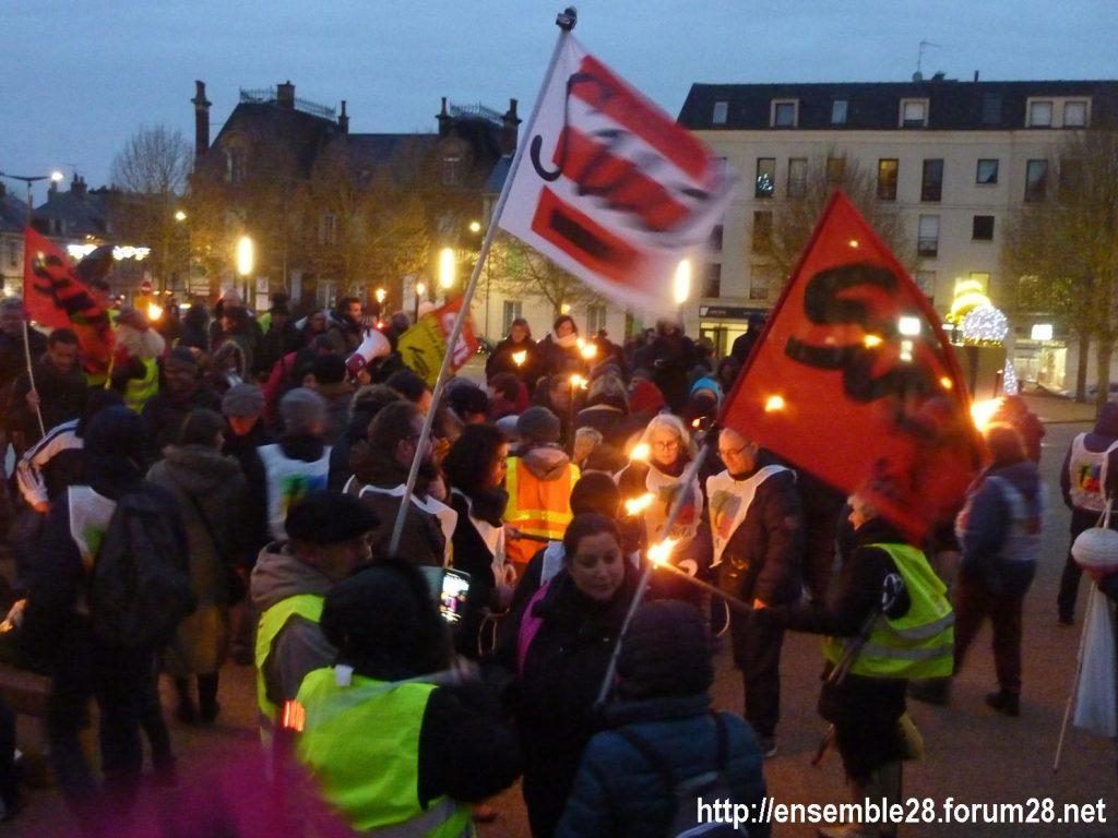 Chartres 21-12-2019 Manifestation Nos-Retraites-aux-flambeaux 04