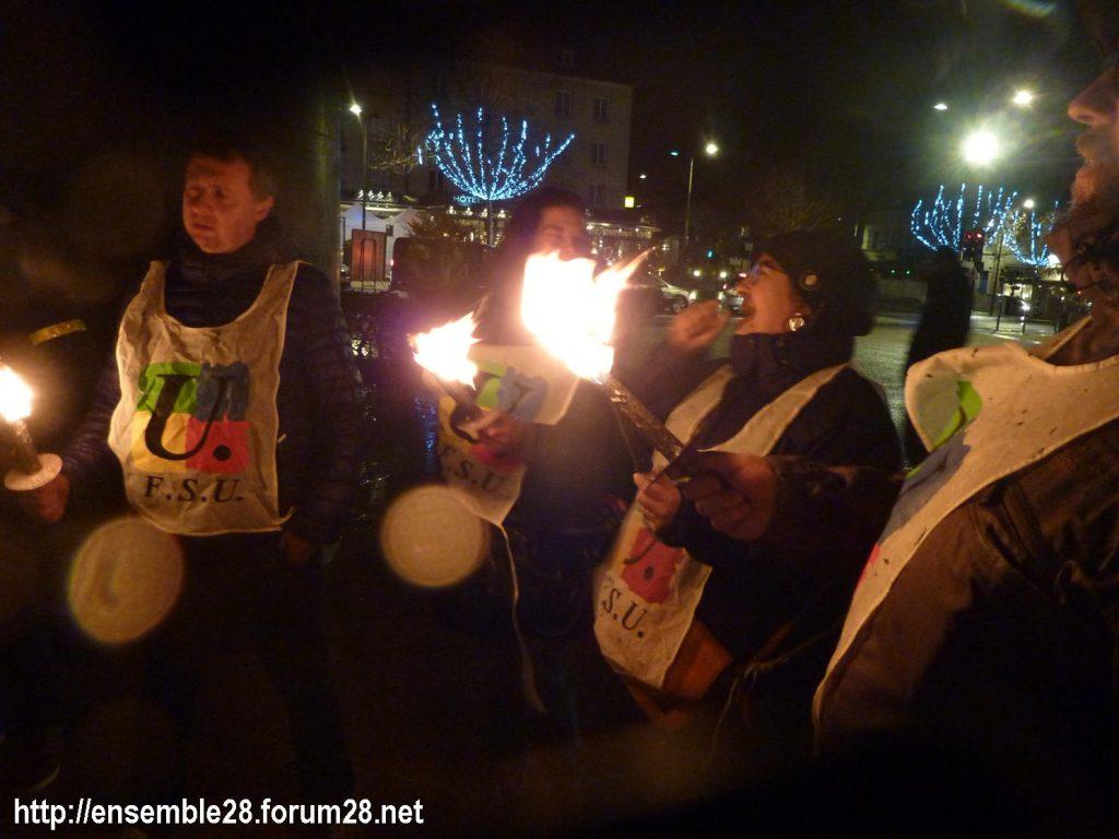 Chartres 21-12-2019 Manifestation Nos-Retraites-aux-flambeaux 11