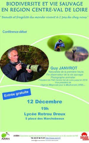 Biodiversité et vie sauvage en Centre-Val de Loire / Lycée Rotrou / Dreux / 12 décembre / 19 h. @ DREUX - Auditorium - Lycée Rotrou