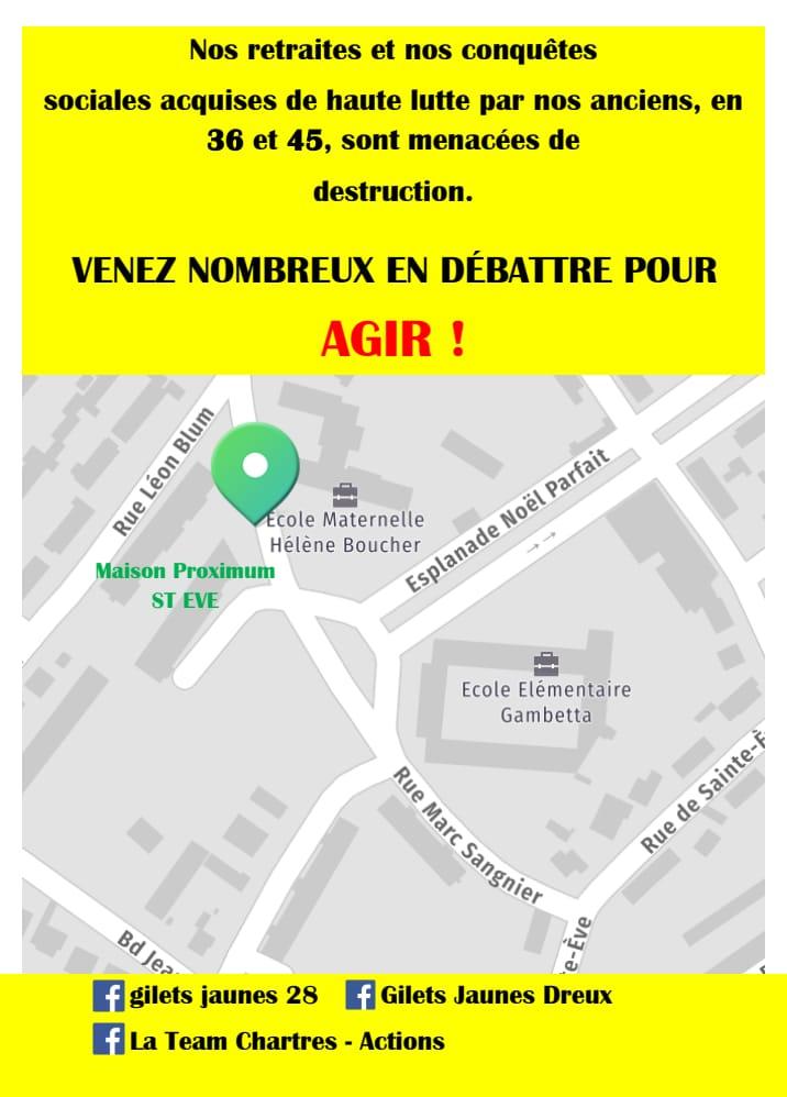 2020 02 Plan accès Conférence débat GJ 1er Février à Dreux