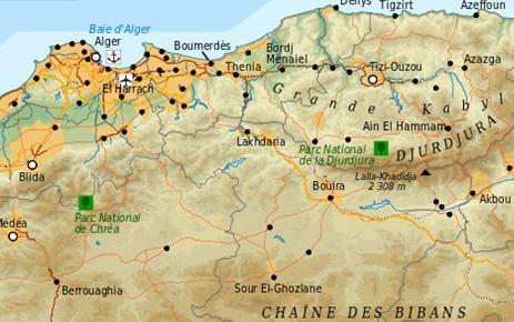 Algérie, Région d'Alger et Kabylie [carte]
