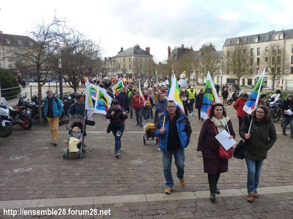 Chartres 04-01-2020 Rassemblement Manifestation Retraites 01