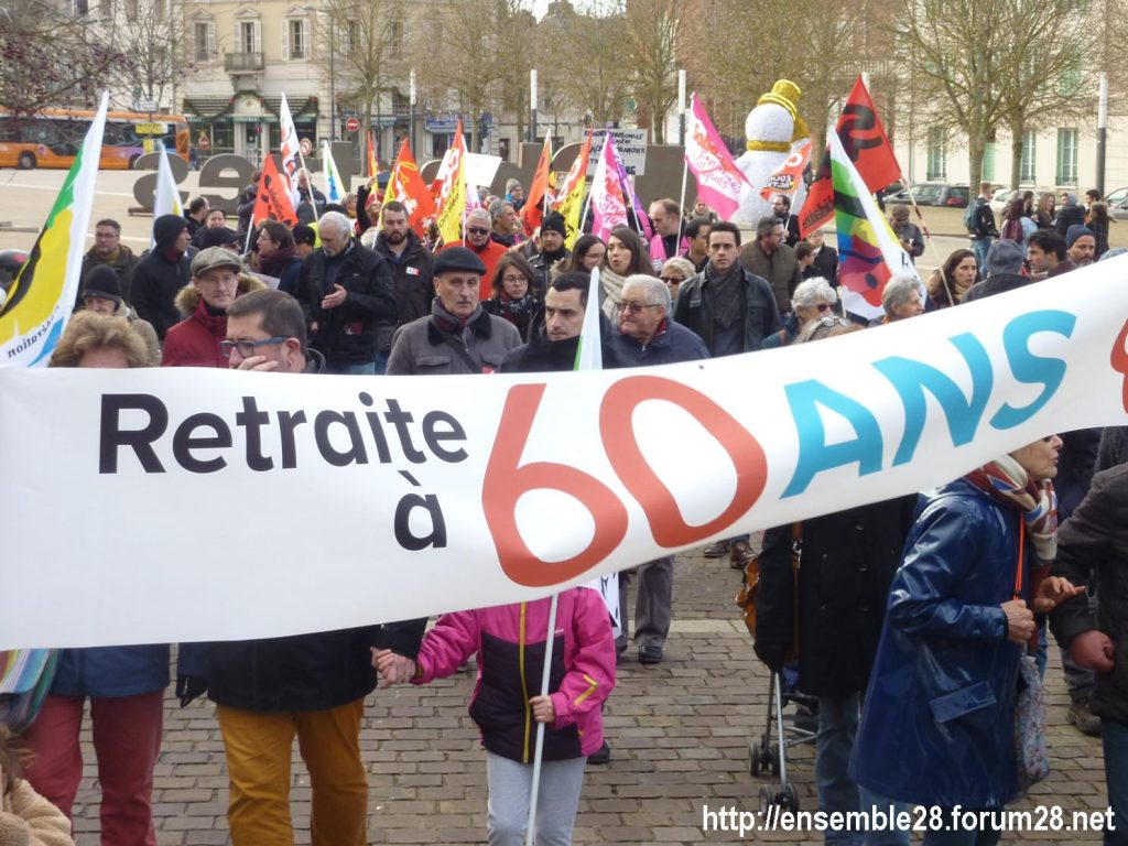 Chartres 04-01-2020 Rassemblement Manifestation Retraites 02