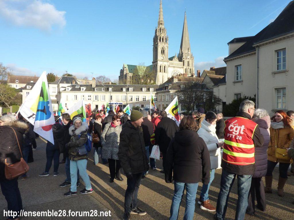 Chartres 04-01-2020 Rassemblement Manifestation Retraites 07
