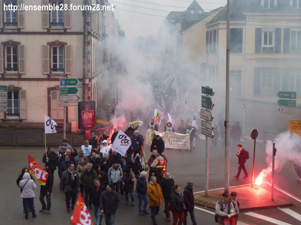 Chartres 09-01-2020 Manifestation Retraites 05
