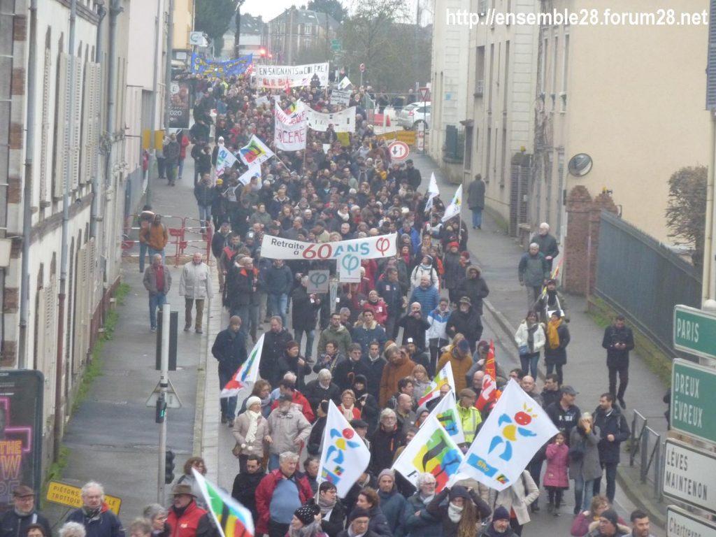Chartres 09-01-2020 Manifestation Retraites 07