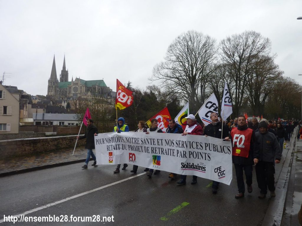Chartres 09-01-2020 Manifestation Retraites 10