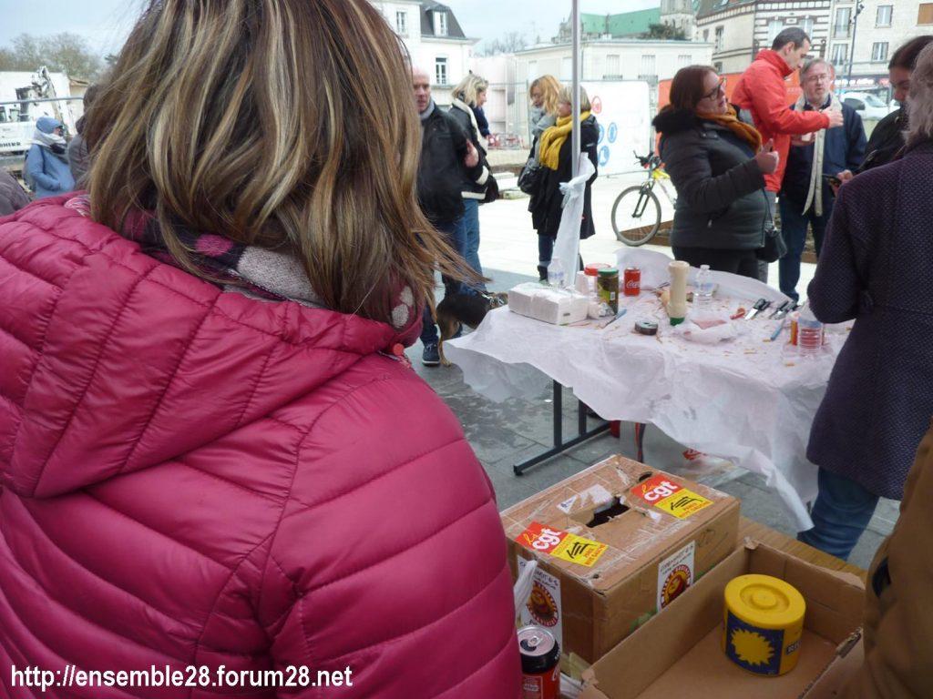 Chartres 09-01-2020 Retraites Pique-nique de soutien aux cheminots grévistes 3