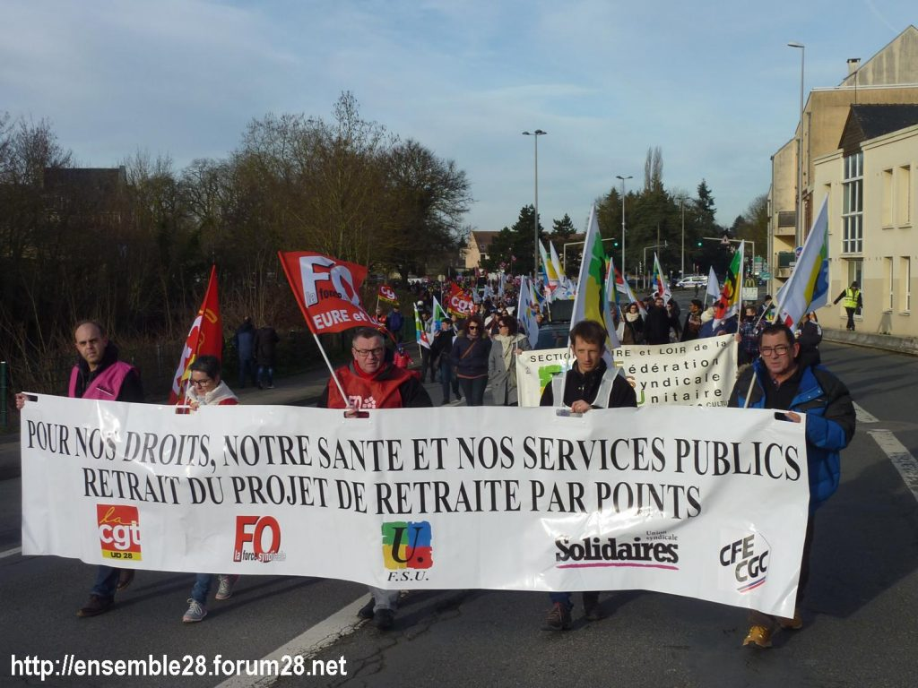Chartres 11-01-2020 Manifestation Retraites 01