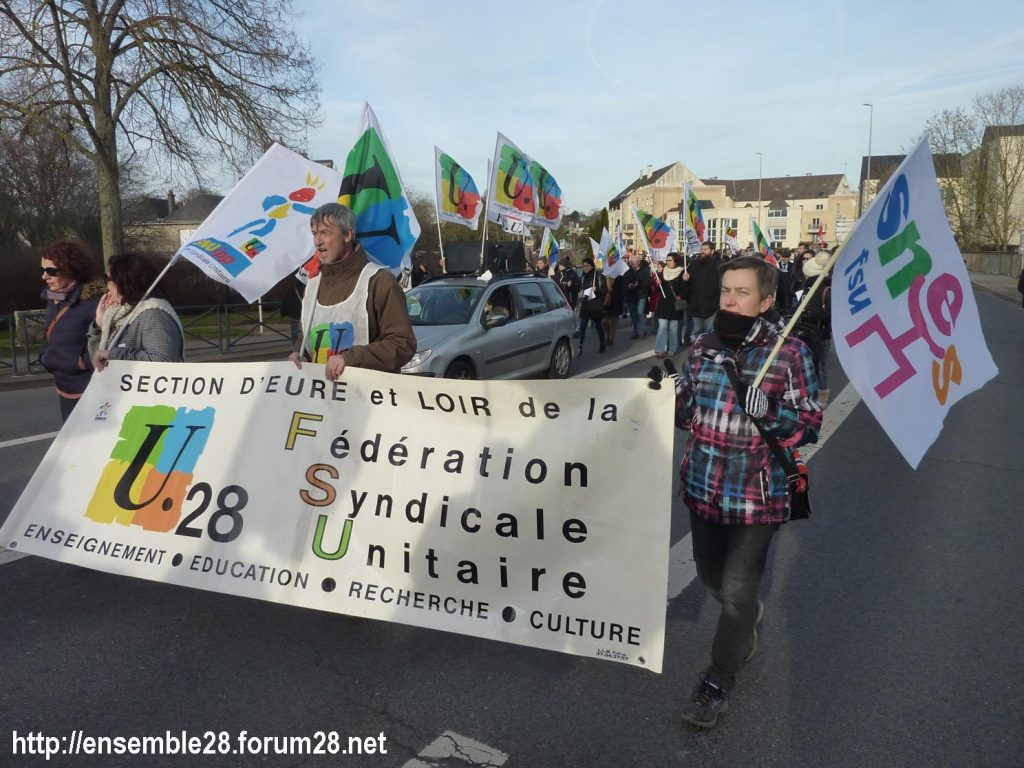 Chartres 11-01-2020 Manifestation Retraites 02