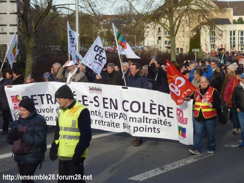 Chartres 11-01-2020 Manifestation Retraites 03