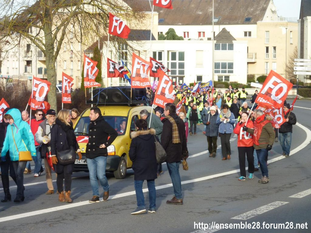 Chartres 11-01-2020 Manifestation Retraites 05