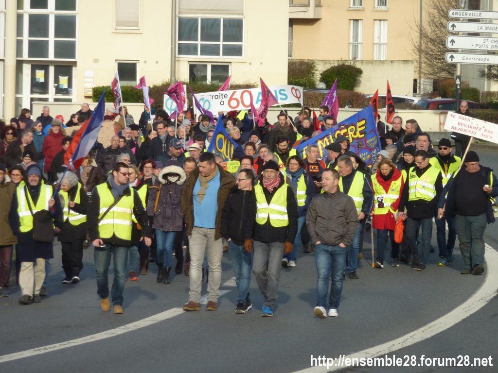 Chartres 11-01-2020 Manifestation Retraites 06