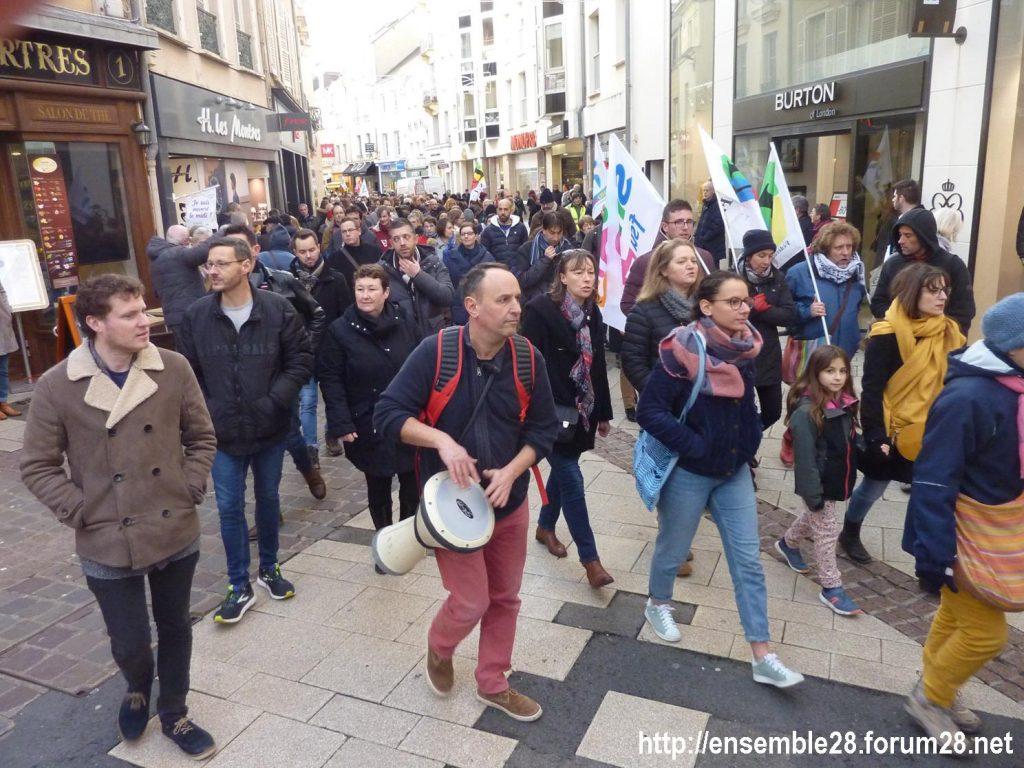 Chartres 11-01-2020 Manifestation Retraites 14