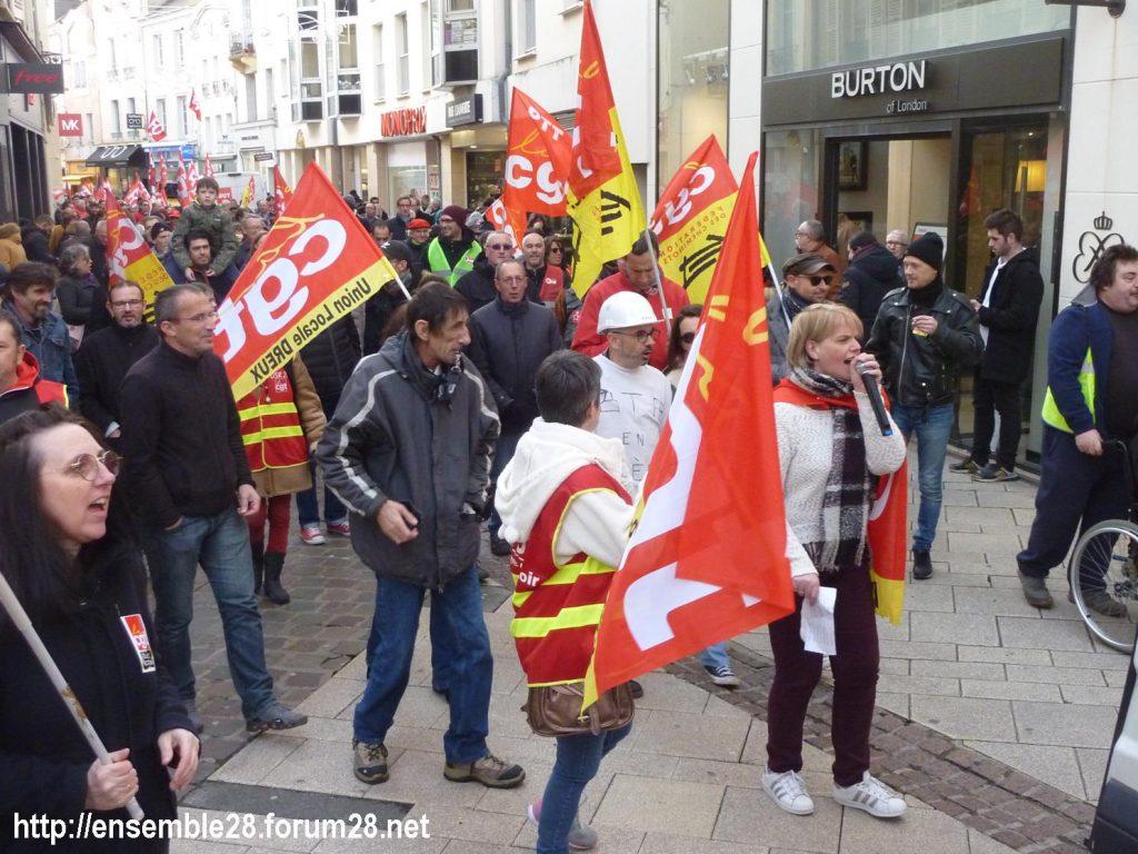 Chartres 11-01-2020 Manifestation Retraites 15