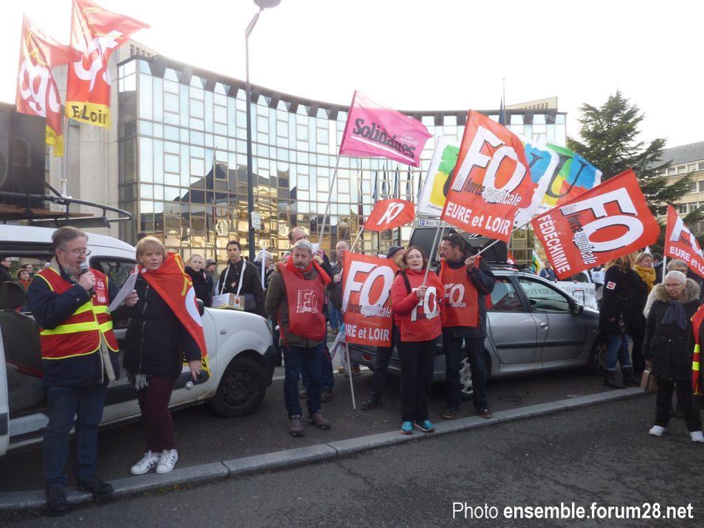 Chartres 11-01-2020 Manifestation Retraites 17