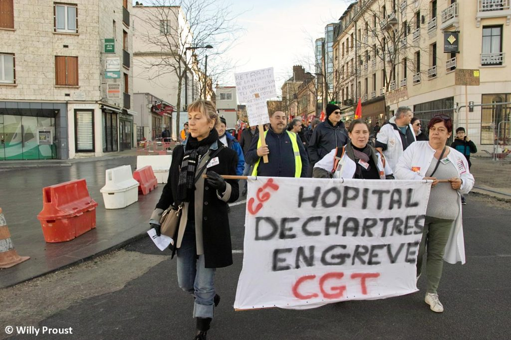 Chartres 16-01-2020 Manifestation Retraites 16 [©Willy Proust]