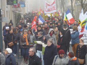 Chartres 24-01-2020 Manifestation Retraites 00