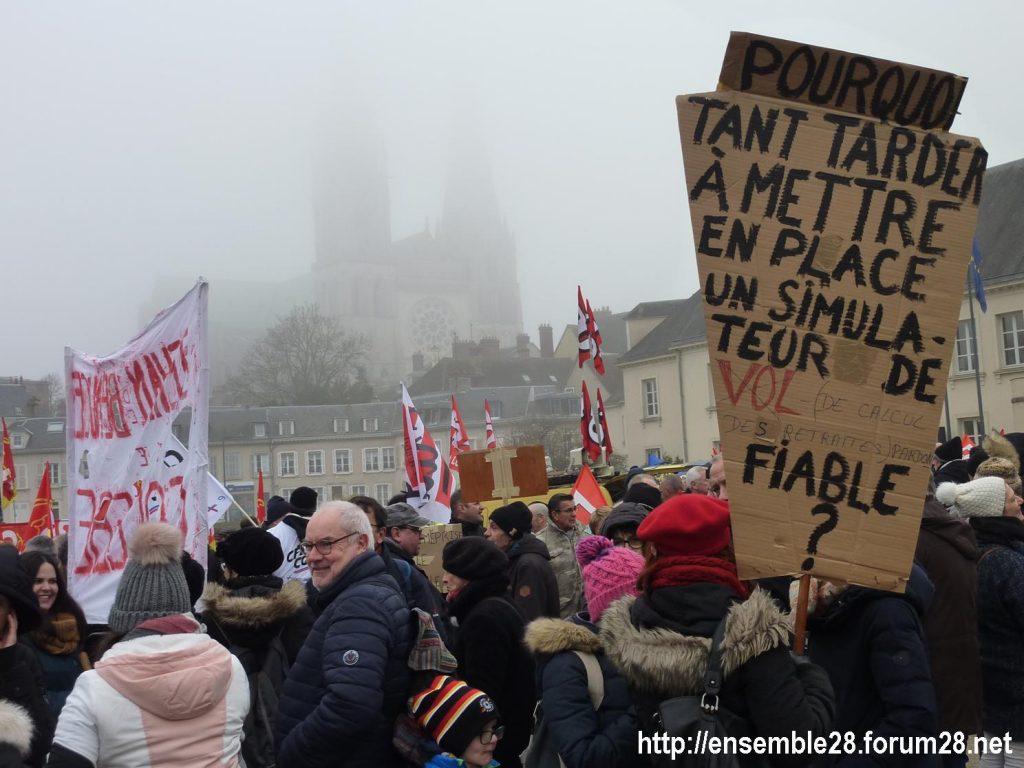 Chartres 24-01-2020 Manifestation Retraites 01