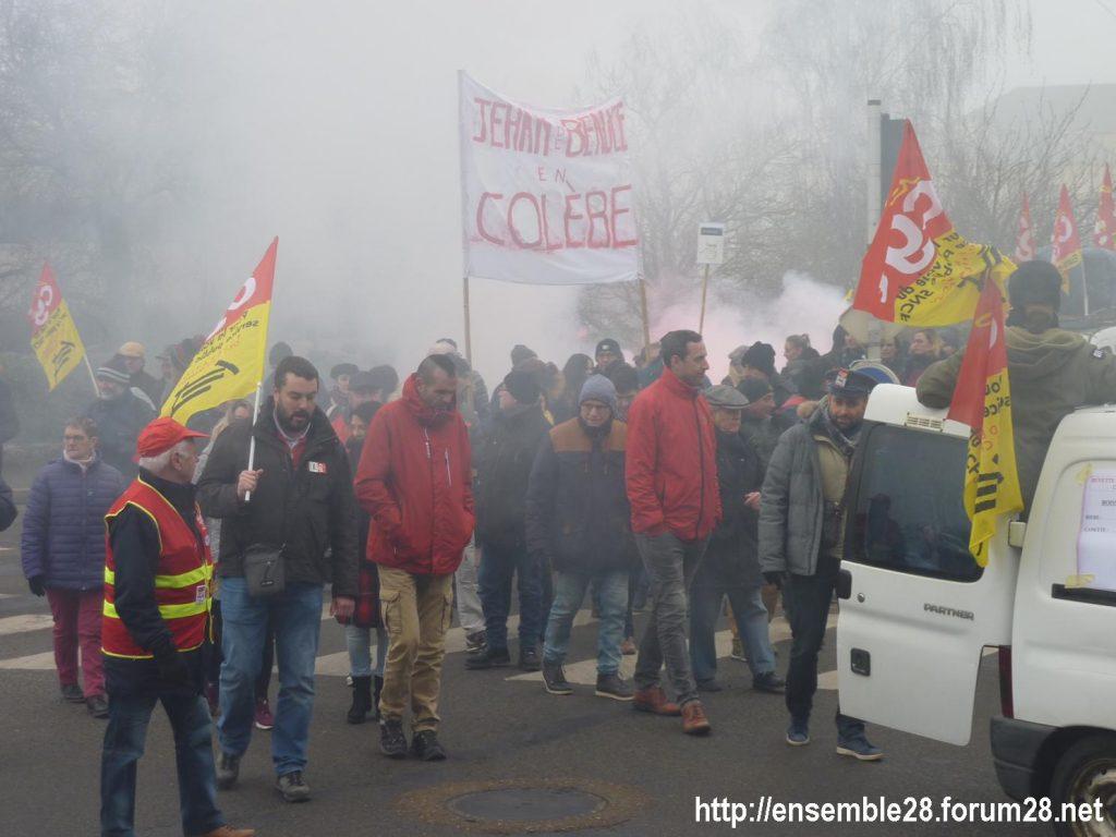 Chartres 24-01-2020 Manifestation Retraites 02