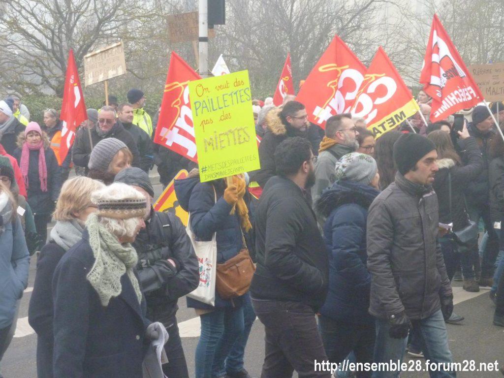 Chartres 24-01-2020 Manifestation Retraites 04