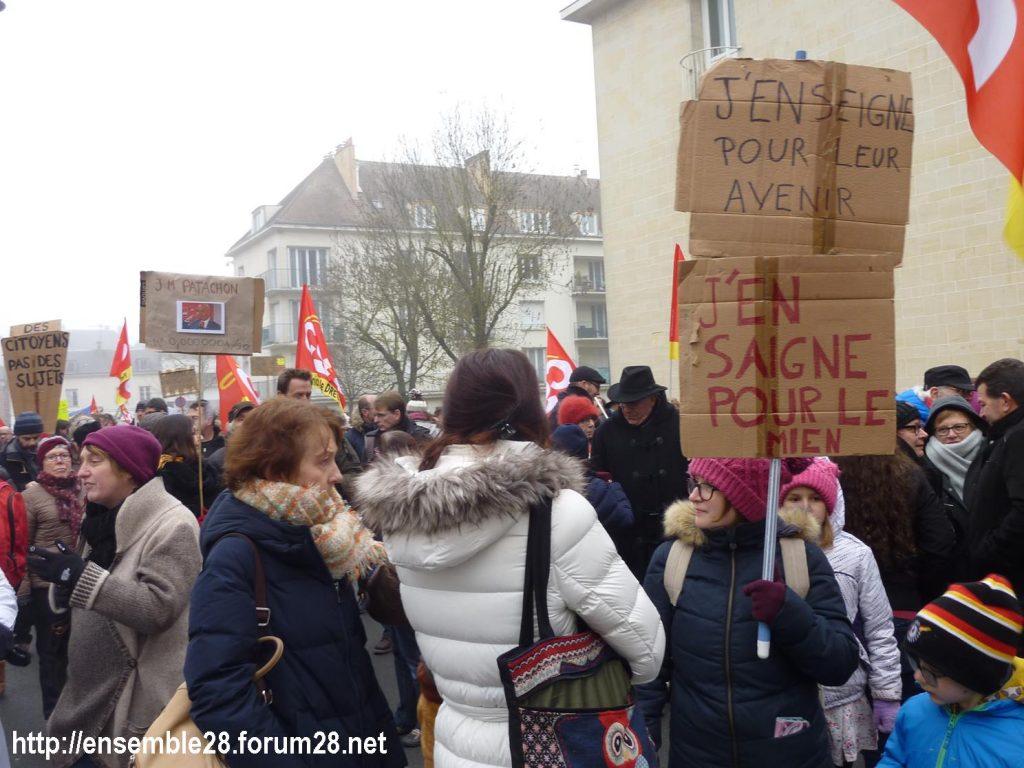 Chartres 24-01-2020 Manifestation Retraites 05