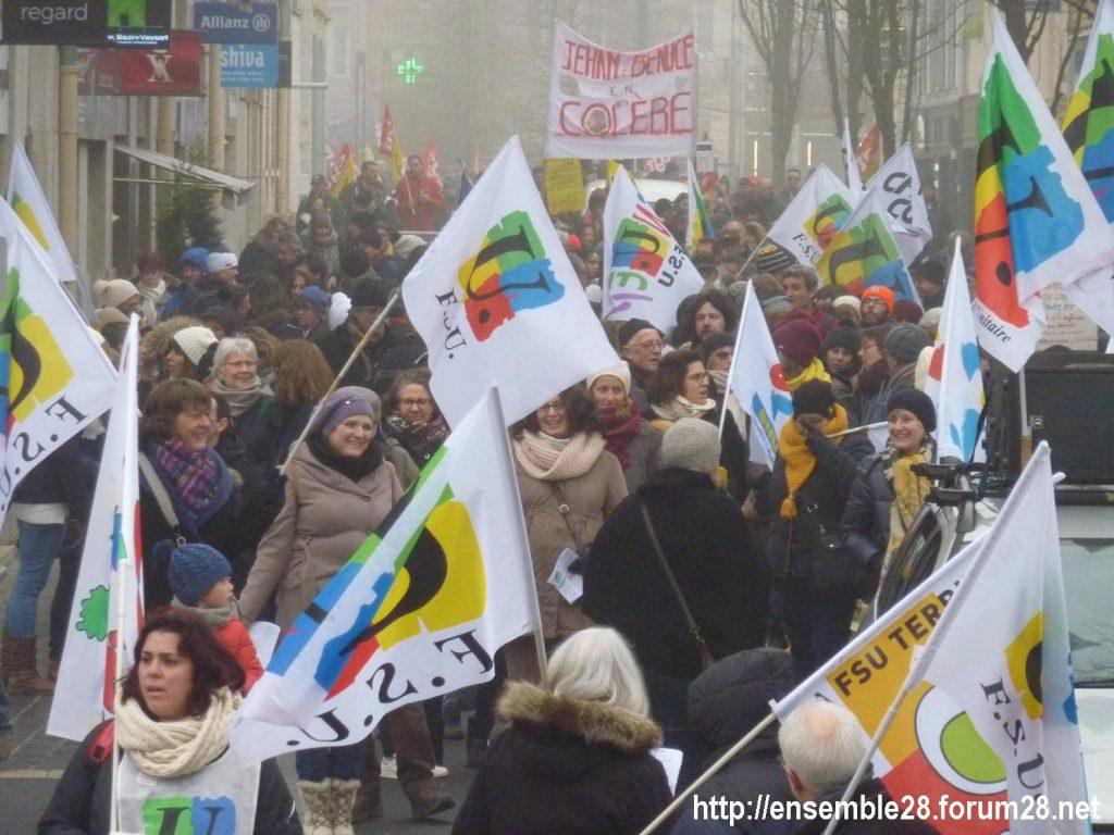 Chartres 24-01-2020 Manifestation Retraites 07
