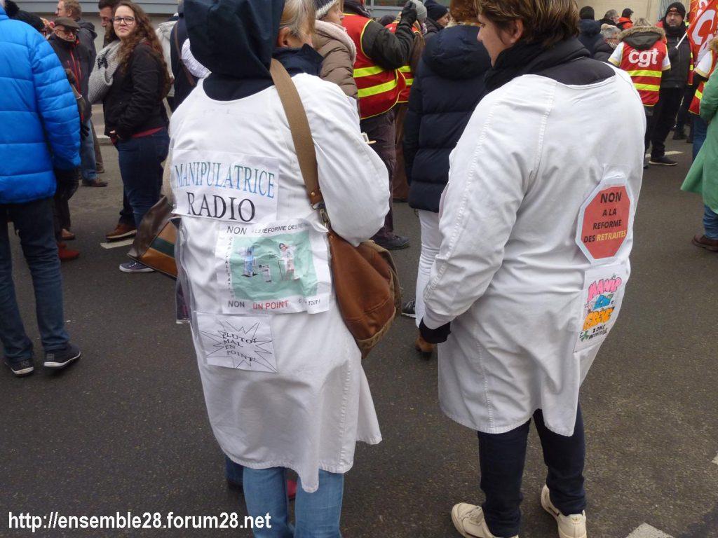 Chartres 24-01-2020 Manifestation Retraites 12