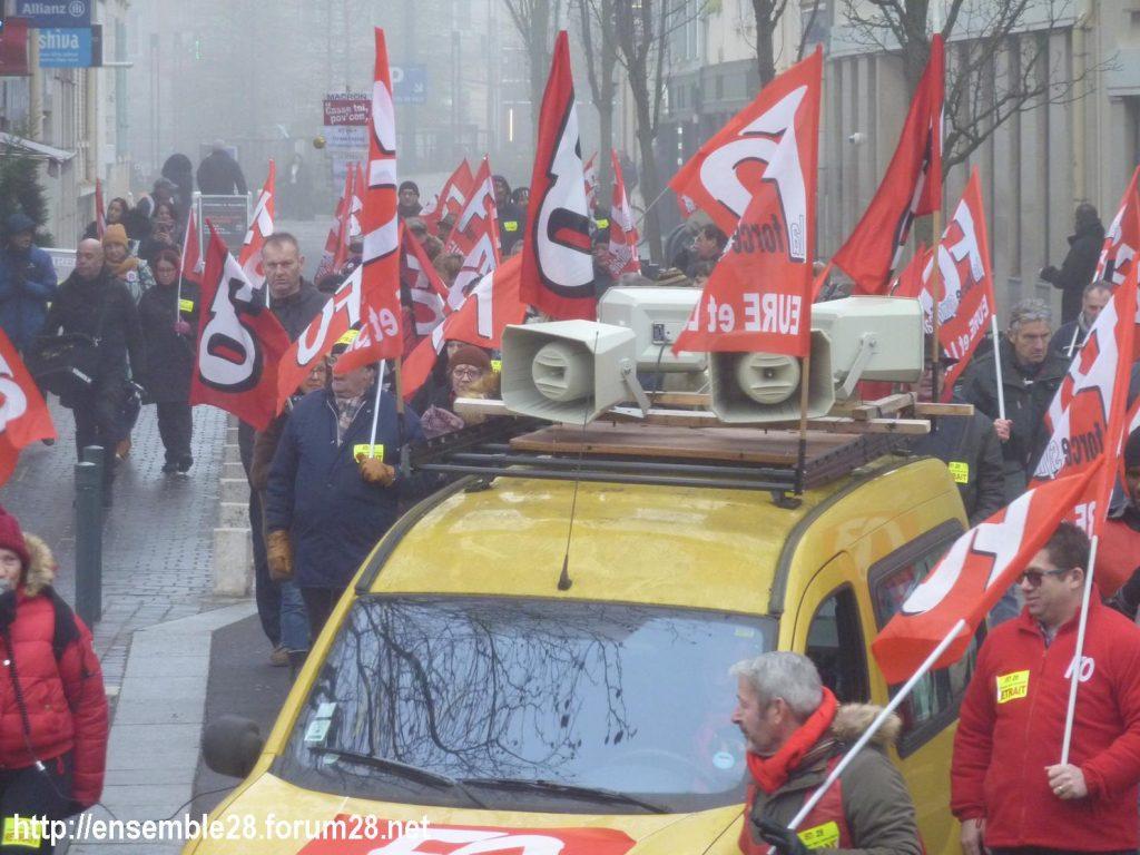 Chartres 24-01-2020 Manifestation Retraites 13