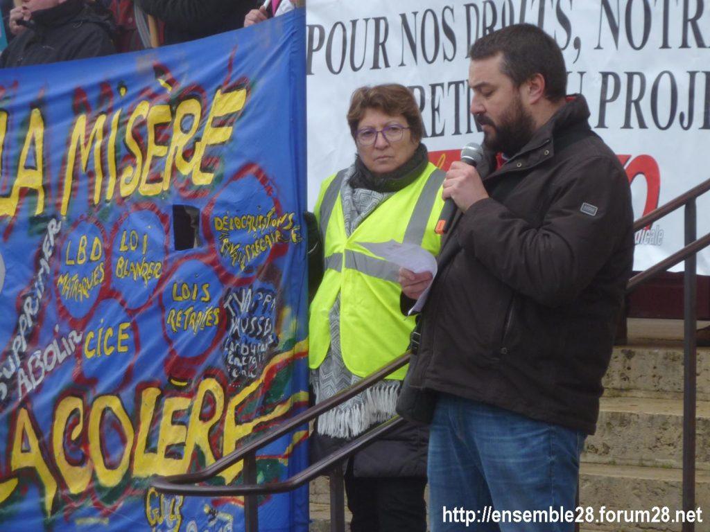 Chartres 24-01-2020 Manifestation Retraites 15