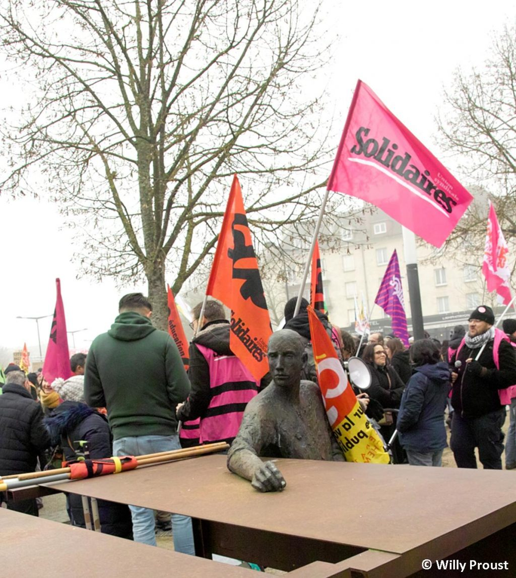 Chartres 24-01-2020 Manifestation Retraites 18 [©Willy Proust]