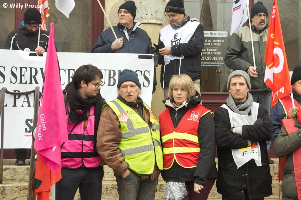 Chartres 24-01-2020 Manifestation Retraites 24 [©Willy Proust]