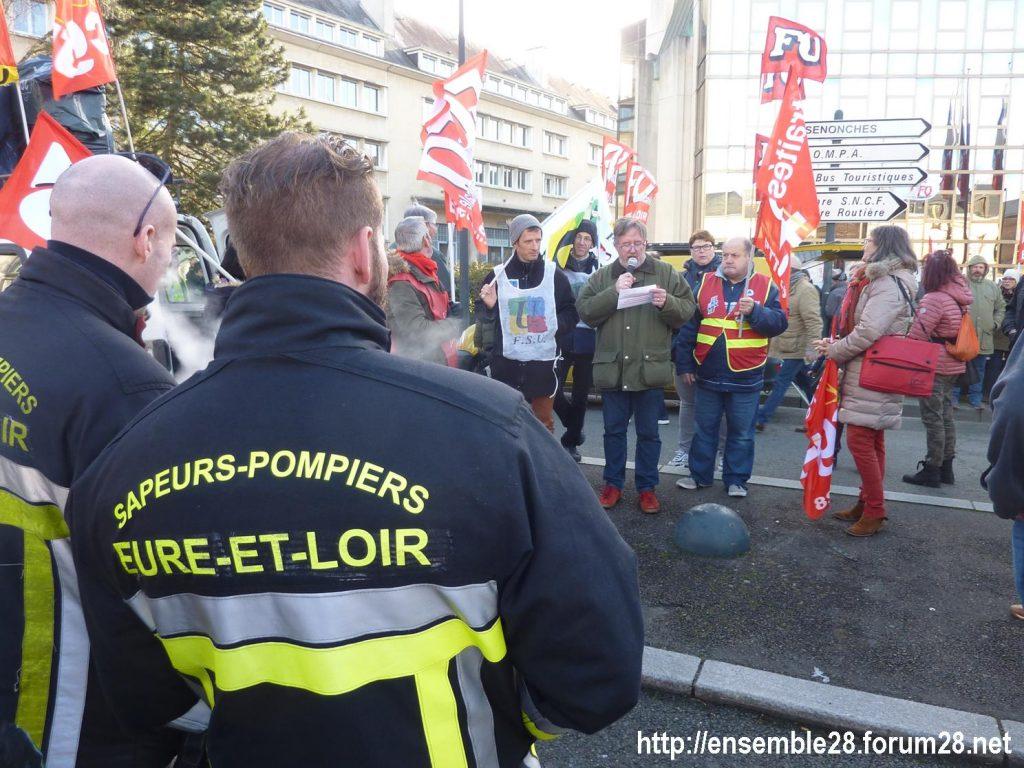 Chartres 29-01-2020 Manifestation Retraites 01