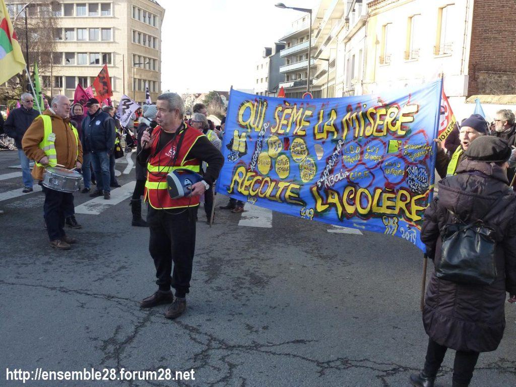 Chartres 29-01-2020 Manifestation Retraites 02