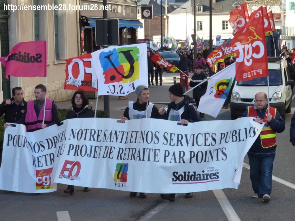 Chartres 29-01-2020 Manifestation Retraites 03