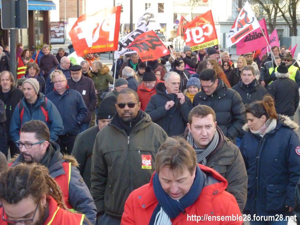 Chartres 29-01-2020 Manifestation Retraites 06