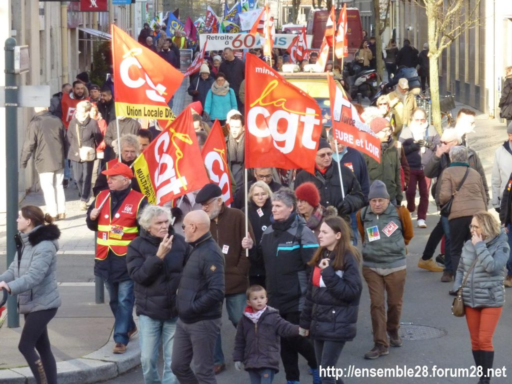 Chartres 29-01-2020 Manifestation Retraites 08