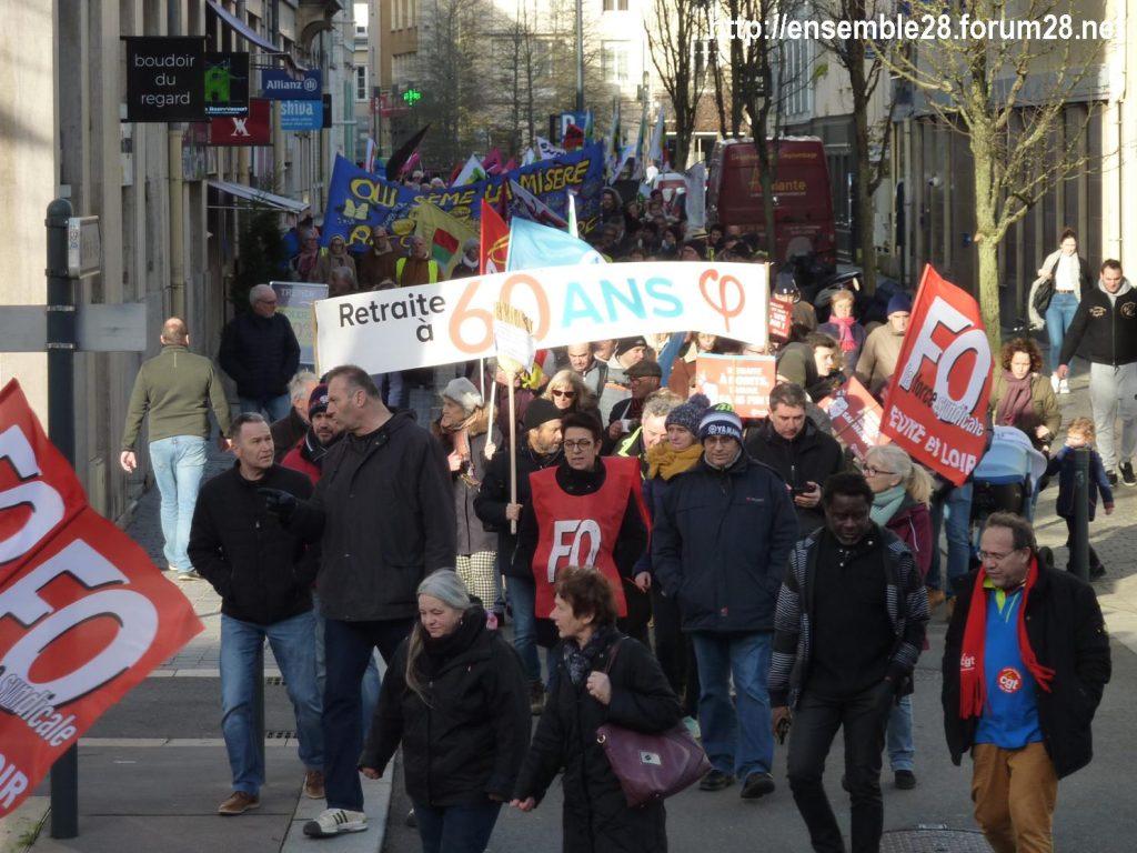 Chartres 29-01-2020 Manifestation Retraites 09
