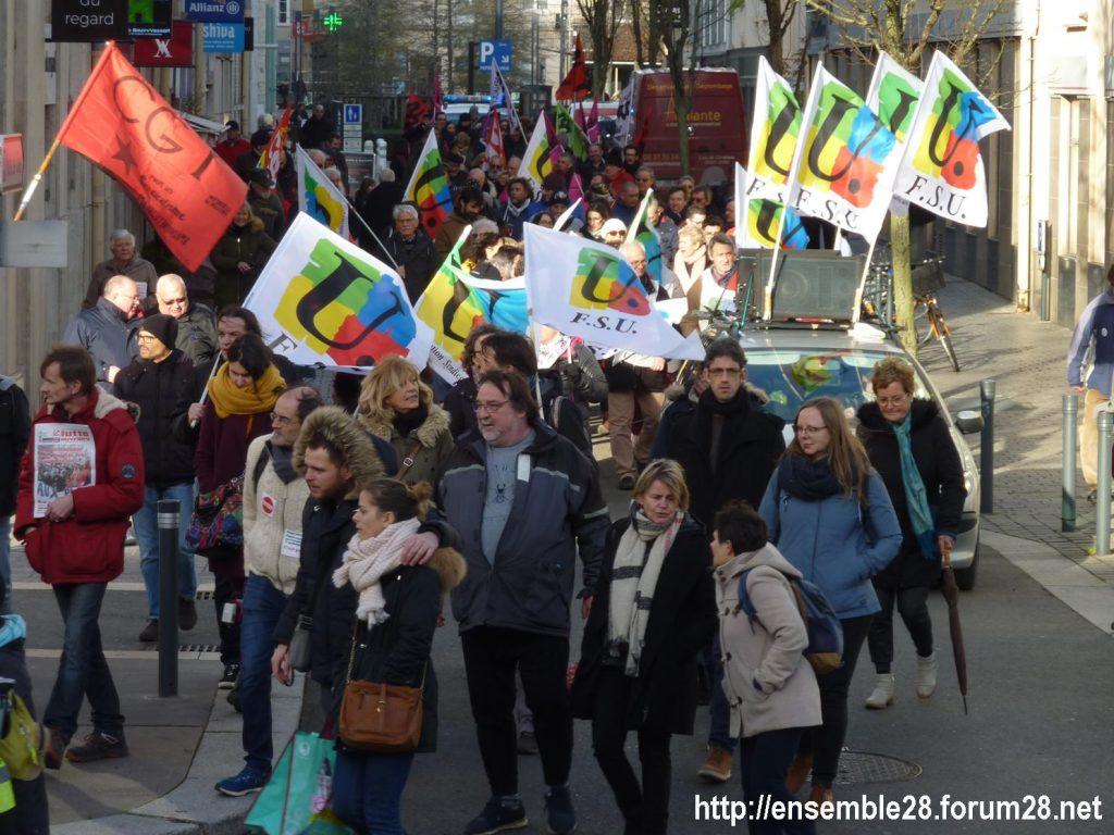 Chartres 29-01-2020 Manifestation Retraites 11