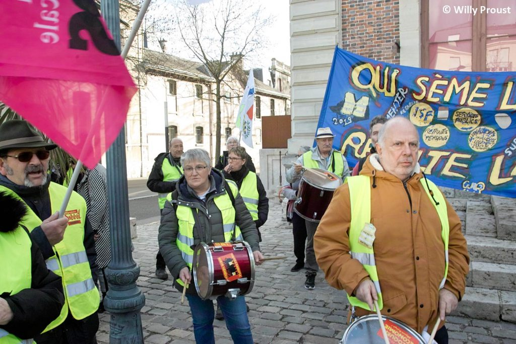 Chartres 29-01-2020 Manifestation Retraites 16 [Photo Willy Proust]