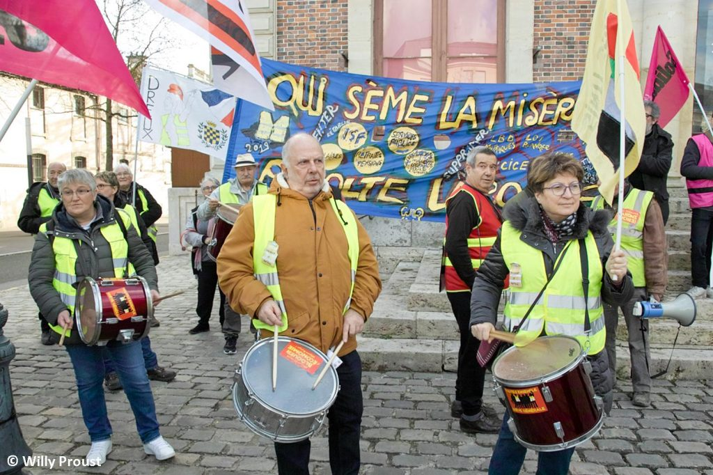 Chartres 29-01-2020 Manifestation Retraites 17 [Photo Willy Proust]
