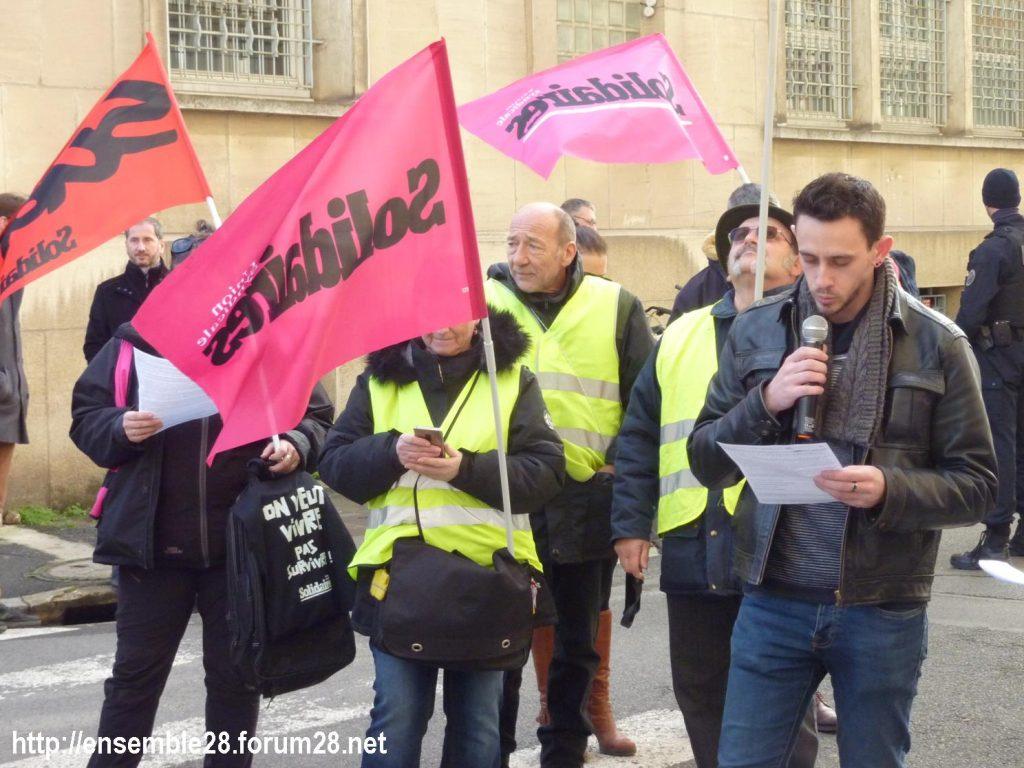 Chartres 29-01-2020 Rassemblement Éducation Des manuels pour Jean-Michel 07