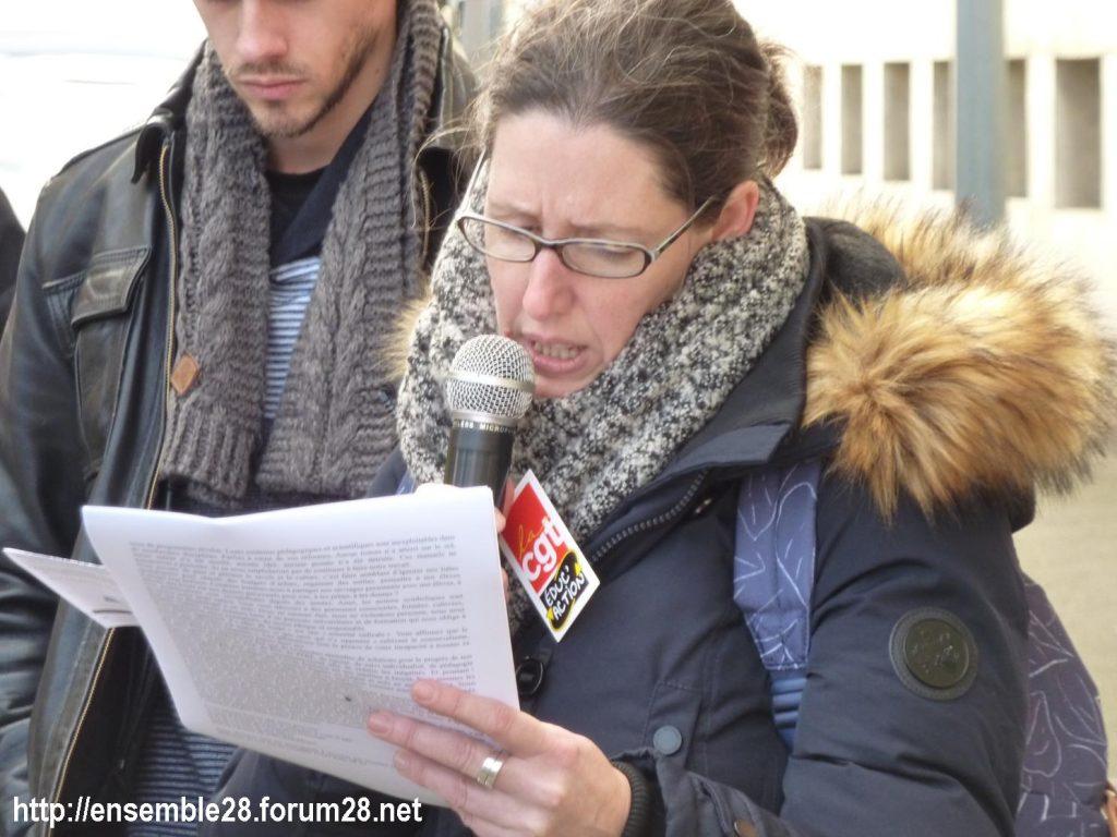 Chartres 29-01-2020 Rassemblement Éducation Des manuels pour Jean-Michel 09
